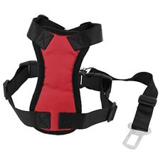 Uxcell Pet Dog Mesh Harness Safety Strap Vest with Car Seat Belt Lead Clip, Free Size, Red >>> Check out this great product. We are a participant in the Amazon Services LLC Associates Program, an affiliate advertising program designed to provide a means for us to earn fees by linking to Amazon.com and affiliated sites.