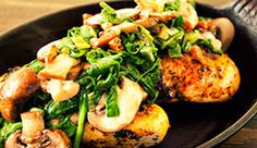 Spinach and Mushroom Chicken
