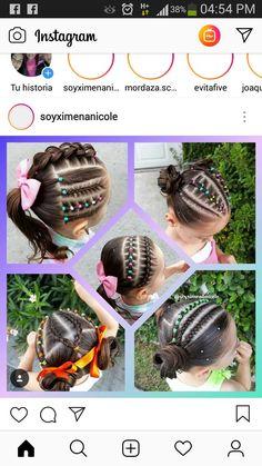 Little Girl Hairstyles, Cute Hairstyles, Beauty Stuff, Hair Beauty, Little Girls, Bb, Braids, Fashion Outfits, Facebook