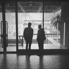 Barbican Centre. London #blackandwhite #silhouette