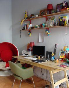 Interiores #42: Mucho Gusto | Casa Chaucha Trestle Table, Table Desk, Home