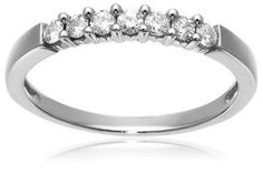 14k White or Yellow Gold 7-Stone Diamond Ring (1/4 cttw, H-I Color, I1-I2 Clarity) Wedding Ring Finger REVIEW