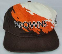 Cleveland Browns Vintage Snapback Logo Athletic Splash Hat NFL Pro Line Cap