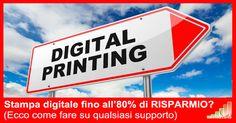 Come Stampare digitale RISPARMIANDO fino all'80% del costo.