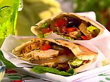 Grilled Chicken Pitas - Travis found this one and I cannot WAIT to make it again!  YUM!
