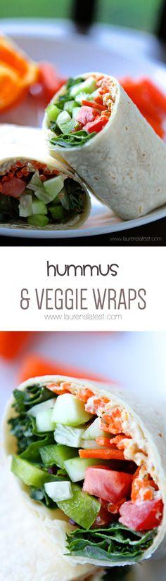Hummus and Veggie Wraps