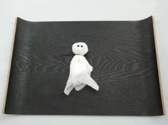 Whip up a few of these ghosts either for decoration or use them in a bean bag toss game. All you need is: *cheese cloth or gauze *white fabric (we used an old t-shirt) *dried beans *ribbon *marker …
