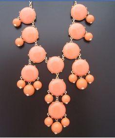 a cheap ebay buy.......New Fashion Jewelry Sale J.CREW Bubble Bib Statement Necklace-Orange JC03