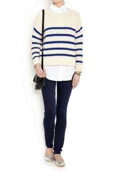 Stripe Cotton Jumper by Part Two | Buy from Part Two online at London Boutiques