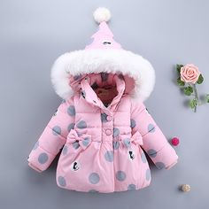 For Baby girl autumn winter clothing cotton jacket outerwear infant baby girl outfits clothes casual sports hooded jackets coats - Kid Shop Global - Kids & Baby Shop Online - baby & kids clothing, toys for baby & kid Baby Girl Winter, Winter Kids, Cute Newborn Baby Girl, Baby Kids, Girl Toddler, Infant Toddler, Steiff Baby, Girls Pad, Kids Fashion