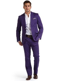 Purple suit -Ricardo wanted a purple suit and at first I thought
