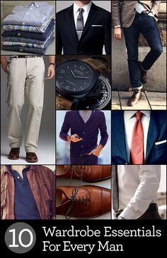 10 wardrobe essentials for every man