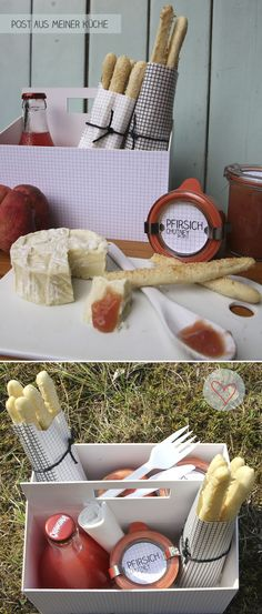Inspiration - Picnic Box - Peach Chutney & Grissini Bread Sticks