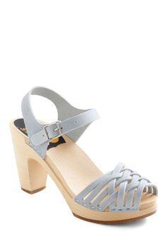 Swedish Hasbeens Runway to Reality Heel in Light Blue   Mod Retro Vintage Heels   ModCloth.com