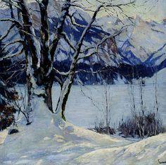 Edward Cucuel - A Frozen Lake in a Mountainous Winter Landscape | Flickr - Photo Sharing!