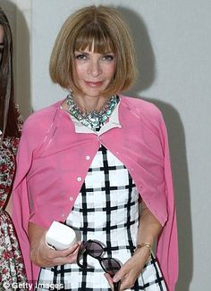 Vogue editor Anna Wintour attends Yves Saint Laurent Menswear Spring/Summer 2014 show as part of Paris Fashion Week in Paris, France