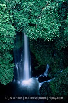 Waterfall, West Sumatra, Indonesia.
