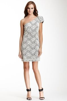 One Shoulder Lace Rosette Dress by A.B.S. on @HauteLook