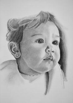 Retrat de la sara a llàpis
