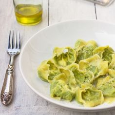 Delicious Pea & Parmesan Tortellini with a creative shortcut!