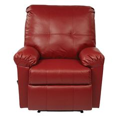 I HAVE ALWAYS LOVED A RED LEATHER CHAIR       Kensington Crimson Red Recliner Office Star Products Recliners Chairs & Recliners Living R