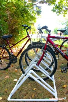 Make a DIY PVC bike rack with this easy video tutorial.