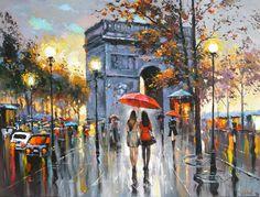 We Met In Paris - Pinturas De Dmitry Spiros - $ 4,990.00 en ...