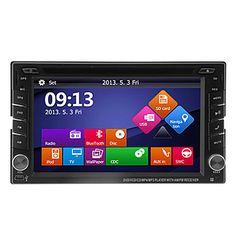"""6.2 """"reproductor de dvd pantalla táctil lcd 2din en el tablero del coche con gps, bluetooth, ipod, atv – USD $ 103.52"""