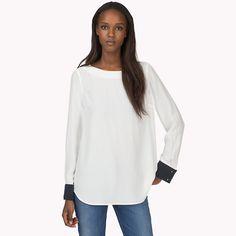 Camicia Ivanka in seta di Tommy Hilfiger - snow white - eur (White) - Camicie di Tommy Hilfiger - immagine principale