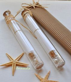Message in a bottle-Invitation in a glass tube-Destination beach wedding invitation - beach bridal shower- baby shower invitation on Etsy, $9.00