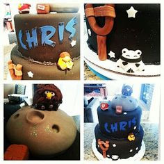 Angry Birds Cake - Pink Sugar Cupcakes Angry Birds Cake, Bird Cakes, Sugar Cake, Pink Sugar, Cupcakes, Cupcake Cakes, Cup Cakes, Muffin, Cupcake