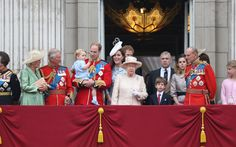Royals on the balcony of Buckingham Palace