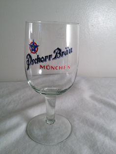 Pschorr Brau, Munchen, .25L, beer glass, 6.75in