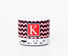 Fashion Chevron Custom Monogram Wireless Bluetooth Mini Speaker