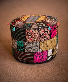 Marigold - Gateway to India Clothing, Accessories, Gifts, Home and Jewelry Poufs, Marigold, Outdoor Furniture, Outdoor Decor, Needlework, Ottoman, India, Gifts, Accessories