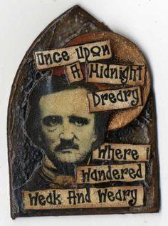 Artfully Musing: Edgar Allen Poe Themed ATCs by Various Artists
