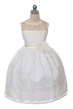 'Anna' Dress for Flower Girl, Party, Communion