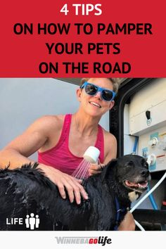 Did you know that 68% of Rv'ers travel with their pets? Traveling with your pets doesn't have to be a challenge. Whether you are full-time rv living or weekend warriors these how-to's will help keep your pets safe and happy!  Do you travel with a dog, cat, or even a parrot? This guide can be adapted to just about any pet. Here are our best tips and tricks to pamper your pet while on the road so that everyone is a happy camper! #WinnebagoLife #RVwithPets #Tips #CampingWithPets #RVPetTips Best Travel Trailers, Travel Trailer Camping, Travel Trailer Remodel, Dog Travel, Rv Camping, Military Campgrounds, Best Campgrounds, Camper Life, Rv Life