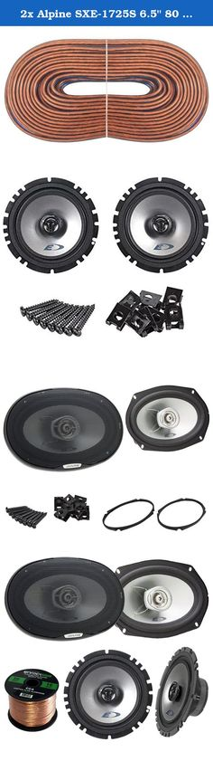 """2x Alpine SXE-1725S 6.5"""" 80 Watt 2-Way Coaxial Car Audio Speakers Bundle Combo With 2x SXE-6925S 6x9 Inch 280 Watts 2-Way Vehicle Speaker - 1 Enrock 50 Feet 16 Gauge Speaker Wire - 4 Speakers. Are You Looking To Upgrade Your Car Audio Speakers To Get Better Sound Quality And Performance From The Original Car Manufacturers System? Alpine Custom Fit line are a great value for Your money, product for upgrading with out modification. They provide an easy Do-It-Yourself installation including..."""