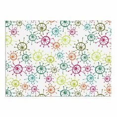 KESS InHouse Holly Helgeson 'Mod Flower Burst' White Multicolor Dog Place Mat, 13' x 18' >>> Tried it! Love it! Click the image. : Dog food container