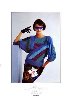 Linda Evangelista  Anny Blatt catalogue - 2nd & 4th trimester 1985 - ph. Pierre Dawlat