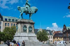 Malmo's Strotorget (old town).  The Swedish king Charles X Gustav is looking at us from above... This statue was built in the middle of the square to dignify his great achievement which was incorporation the region of Skåne to Sweden in 1658 year.