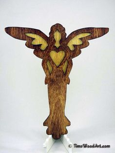 Angel Cross, Large 10 inch tall Handmade Wood Cross for Wall Hanging, Item M4-11
