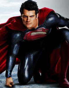 Henry Cavill - Man of Steel - Superman Batman Vs Superman, Henry Cavill Superman, Superman Movies, Superman Man Of Steel, Superman Outfit, Wonder Woman, Superman Tattoos, Justice League Characters, Superman Wallpaper