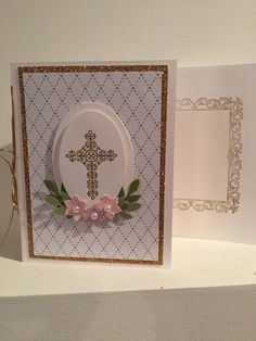 Baptism card. Stampin' Up Crosses of Hope