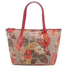 Cath Kidston Autumn Bloom Small Leather Trim Tote The zip closure keeps everything safe on the move. - 60£