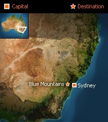 See how close the Blue Mountains are to Sydney?