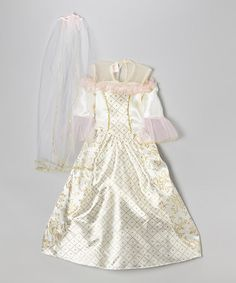 White Barbie Annalise Bride Dress-Up Outfit - Girls