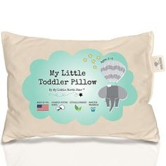 Toddler Pillow Made in USA & Pillowcase - Organic Cotton - Machine Washable - Chiropractor Recommended - Soft Safe Hypoallergenic - Best for Toddlers, Kids, Infant - Perfect for Travel Best Pillows To Buy, Amber Teething, Toddler Pillow, Toddler Age, Childrens Beds, Thing 1, Kids Pillows, Cool Items, Healthy Kids