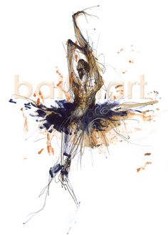 Bolshoi Ballet Dancer - drawing is a layer of work:     drawing, printing and drawing... using different medias: ink, pastel, graphite, marker